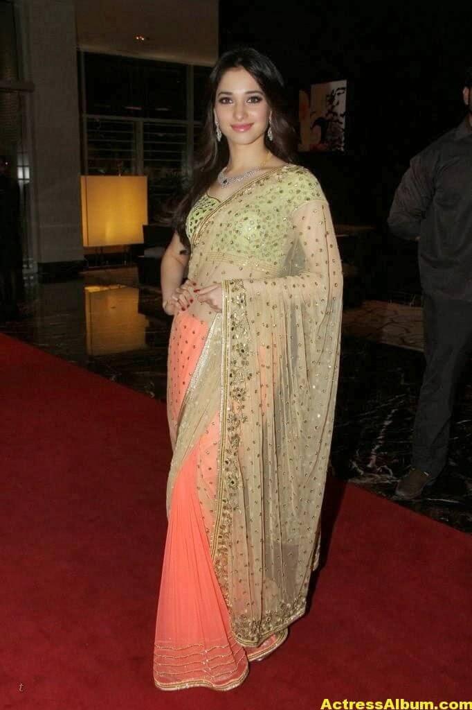 Tamanna Gorgeous In Saree Stills 4