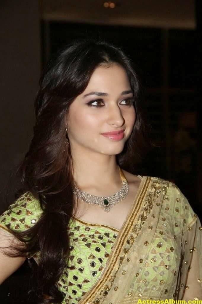 Tamanna Gorgeous In Saree Stills 5