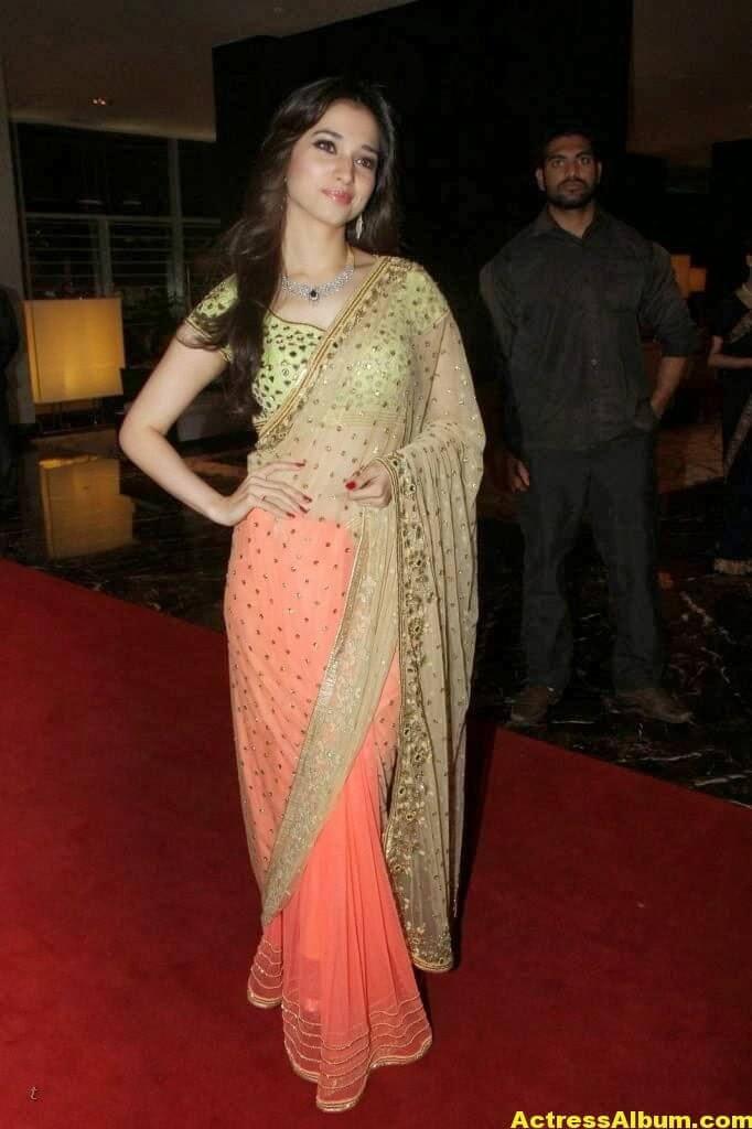 Tamanna Gorgeous In Saree Stills 6