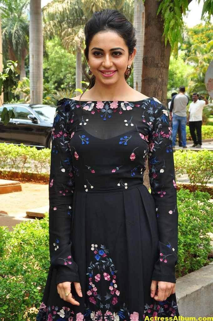 Actress Rakul Preet Singh In Black Dress (1)