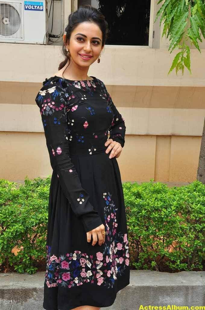 Actress Rakul Preet Singh In Black Dress (3)
