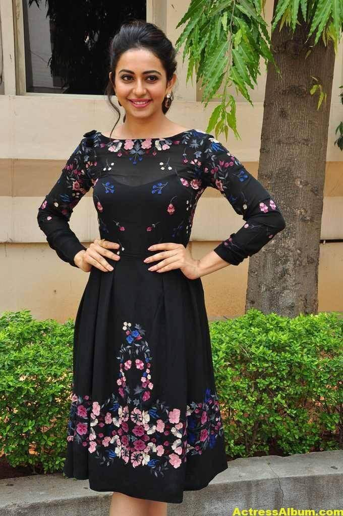 Actress Rakul Preet Singh In Black Dress (4)