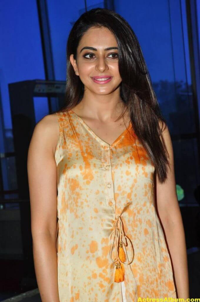 Actress Rakul Preet Singh Stills In Yellow Dress 1