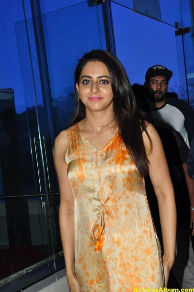 Actress Rakul Preet Singh Stills In Yellow Dress 3