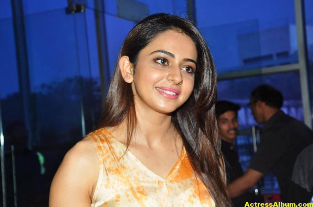 Actress Rakul Preet Singh Stills In Yellow Dress 6
