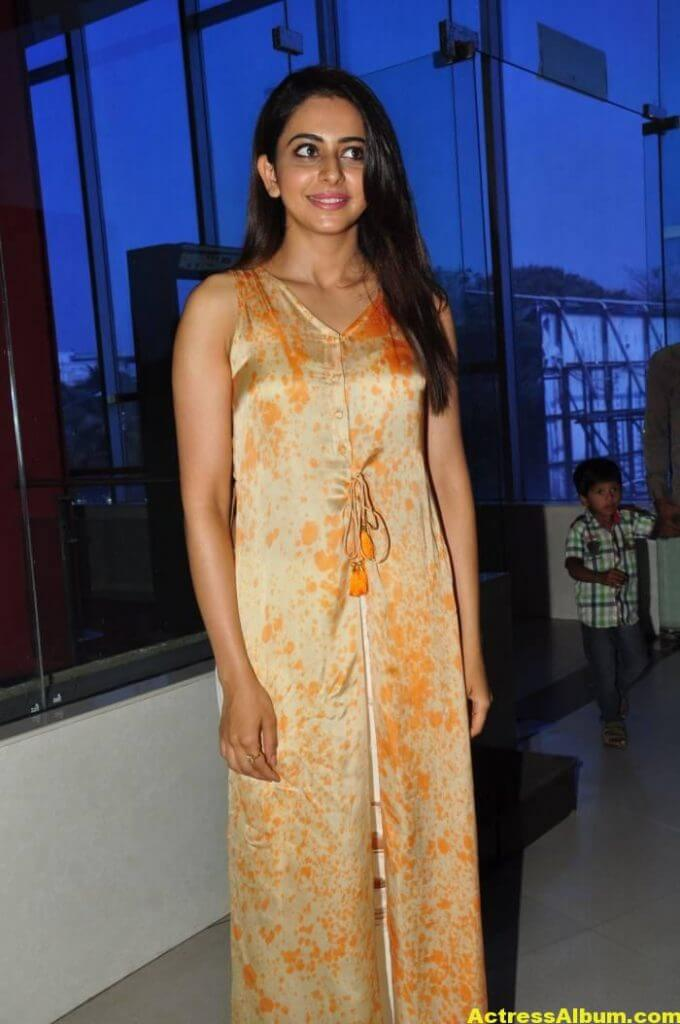 Actress Rakul Preet Singh Stills In Yellow Dress 7