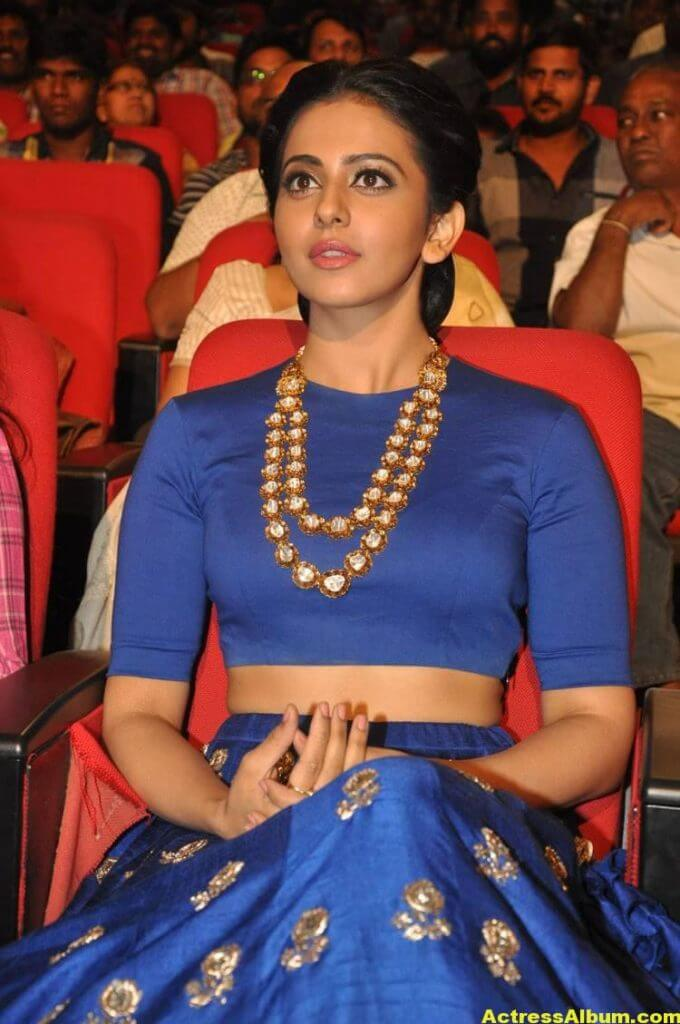 Rakul Preet Latest Photos At Nannaku Prematho Audio Launch (3)