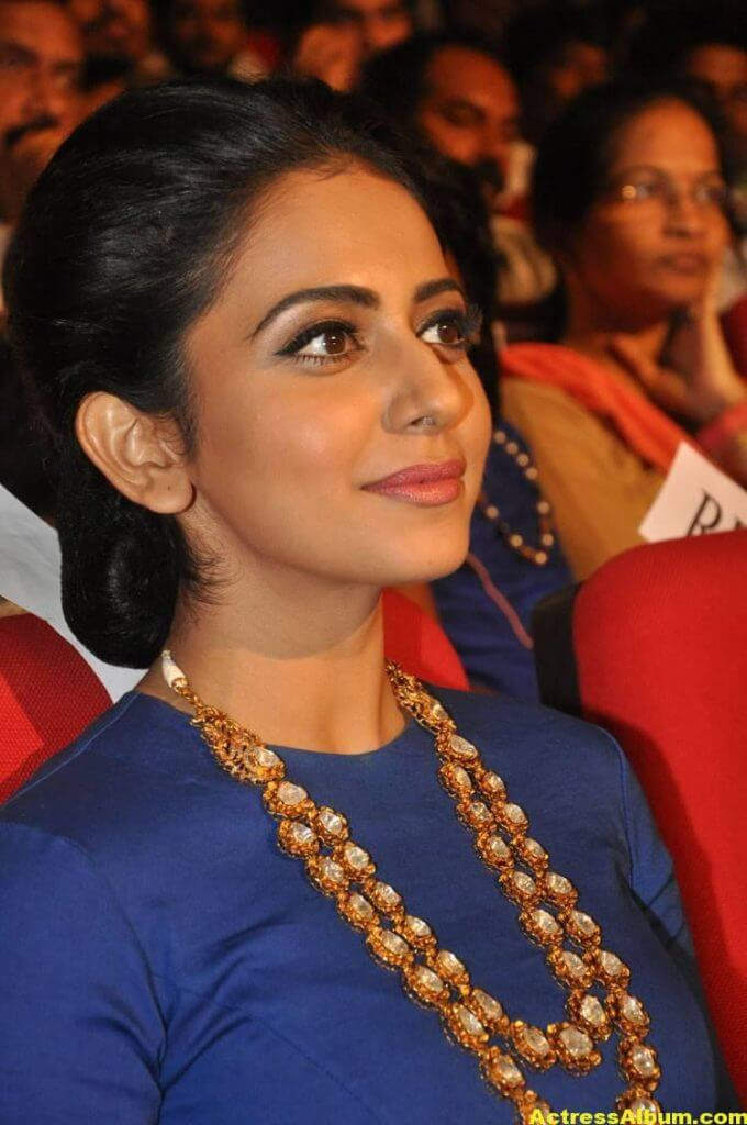 Rakul Preet Latest Photos At Nannaku Prematho Audio Launch (5)