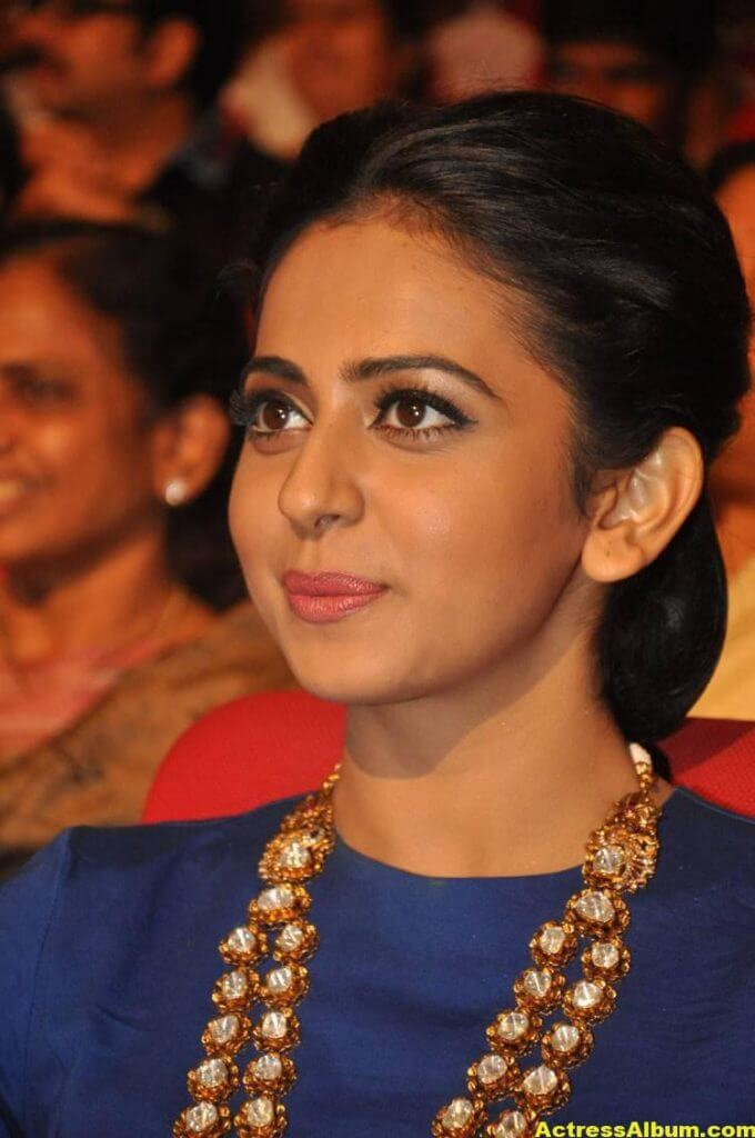 Rakul Preet Latest Photos At Nannaku Prematho Audio Launch (6)