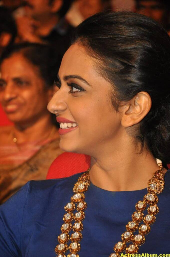 Rakul Preet Latest Photos At Nannaku Prematho Audio Launch (7)
