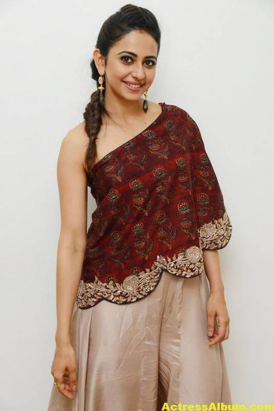 Rakul Preet Singh Latest Images In Maroon Dress (4)