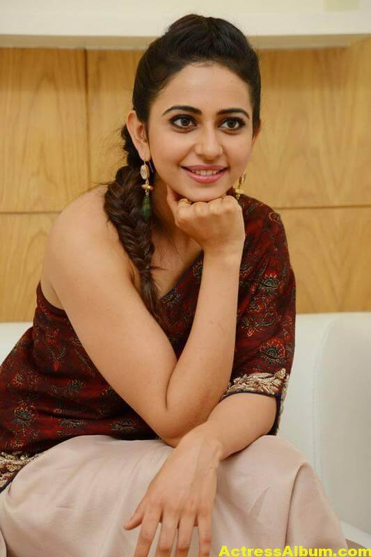 Rakul Preet Singh Latest Images In Maroon Dress (8)