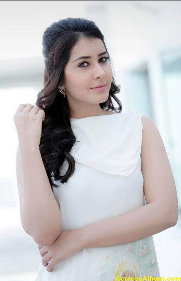 Rashi Khanna Latest Photoshoot In White Dress (1)