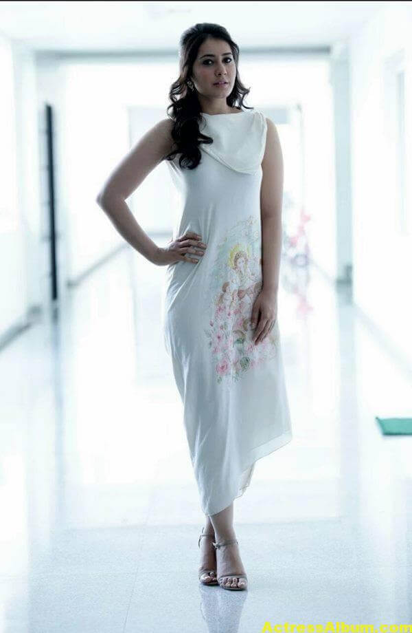 Rashi Khanna Latest Photoshoot In White Dress (5)