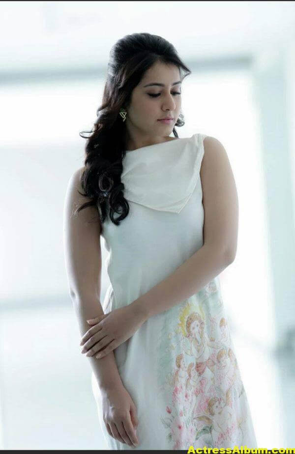 Rashi Khanna Latest Photoshoot In White Dress (6)