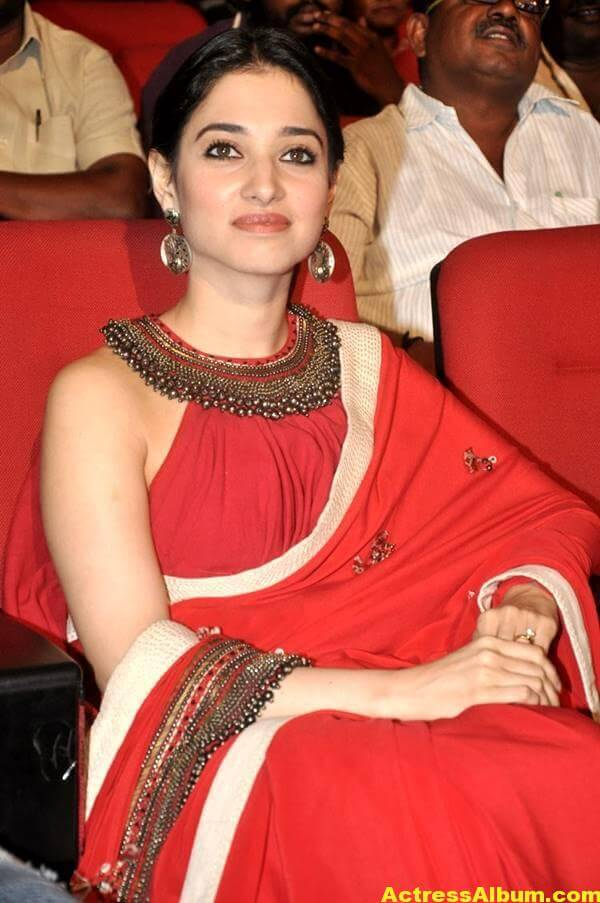 Tamanna Latest Hot Photos In Orange Saree 2