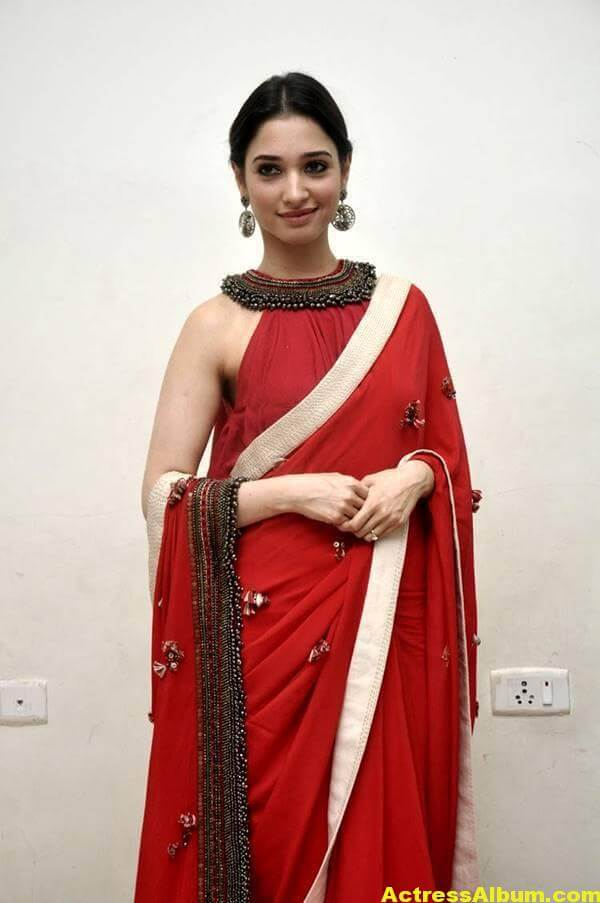 Tamanna Latest Hot Photos In Orange Saree 7