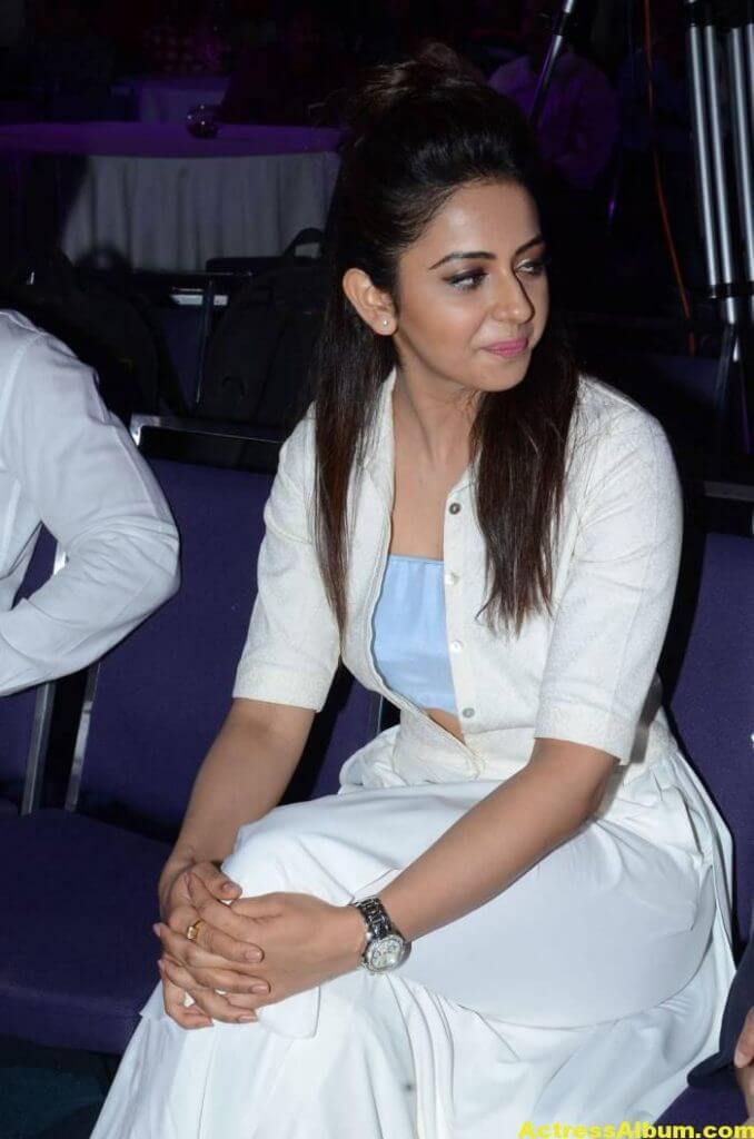 Tamil Actress Rakul Preet Hot Pics In White Dress 3