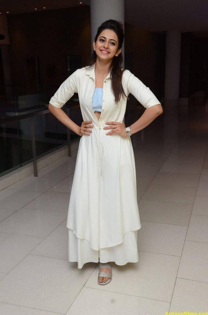Tamil Actress Rakul Preet Hot Pics In White Dress 6
