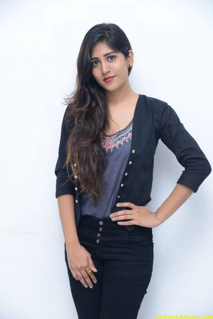 Chandini Chowdary Photos In Black Dress (1)