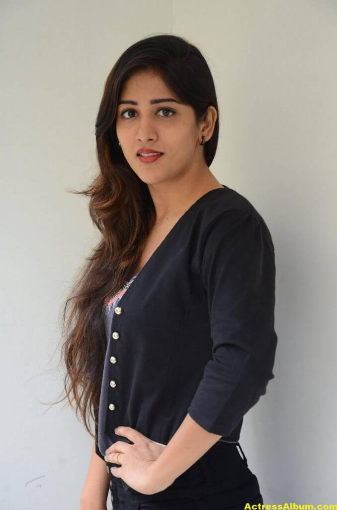 Chandini Chowdary Photos In Black Dress (2)