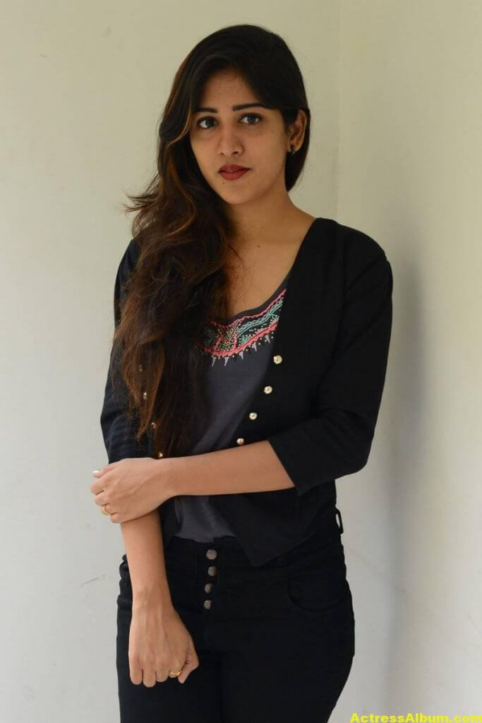 Chandini Chowdary Photos In Black Dress (6)