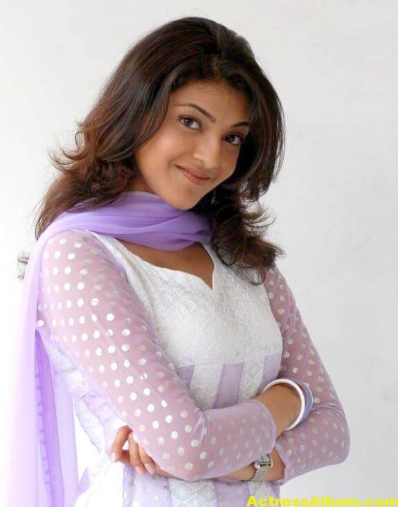 Cute Kajal Agarwal In White Dress 1