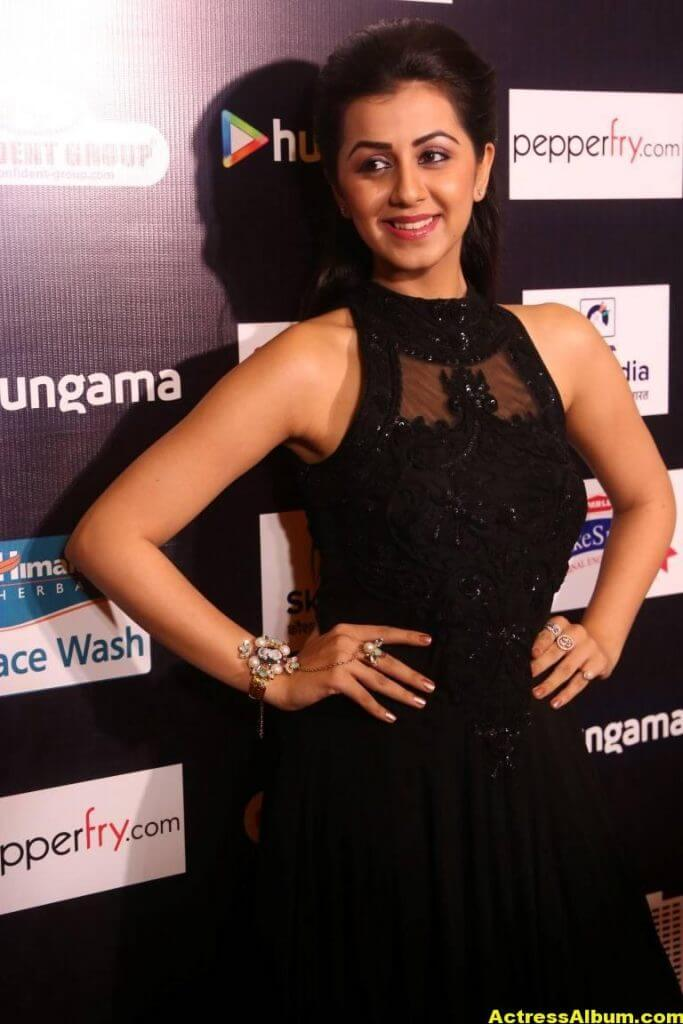 Glamorous Nikki Galrani Hot Photos In Black Dress (5)