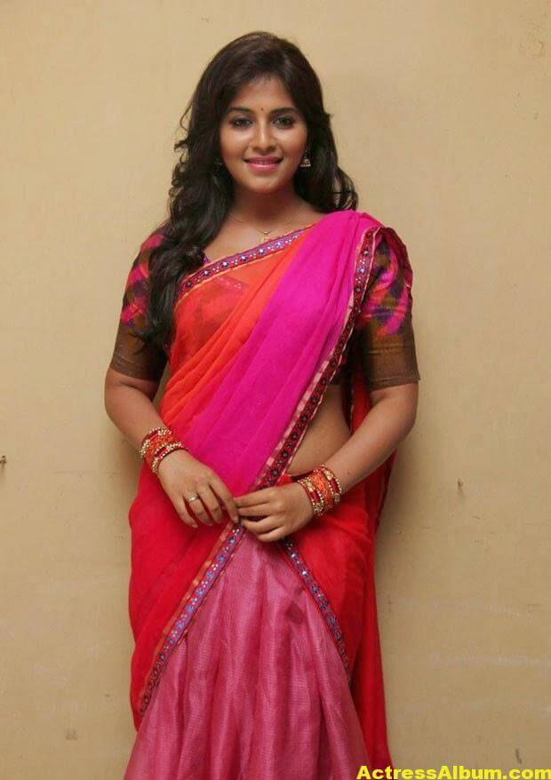Glamorous Photos Of Anjali In Red Half Saree (4)