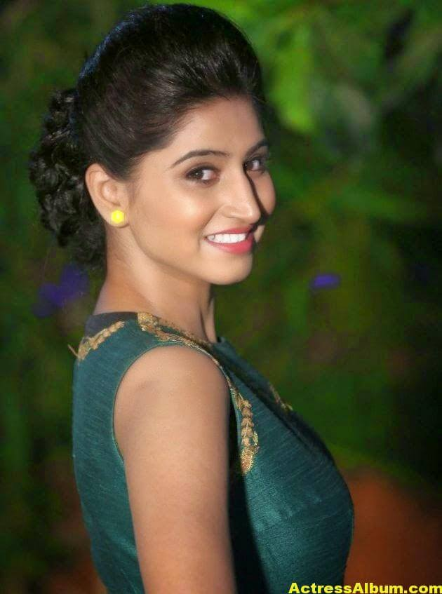 Glamorous Shamili Hot Photos In Green Dress (8)