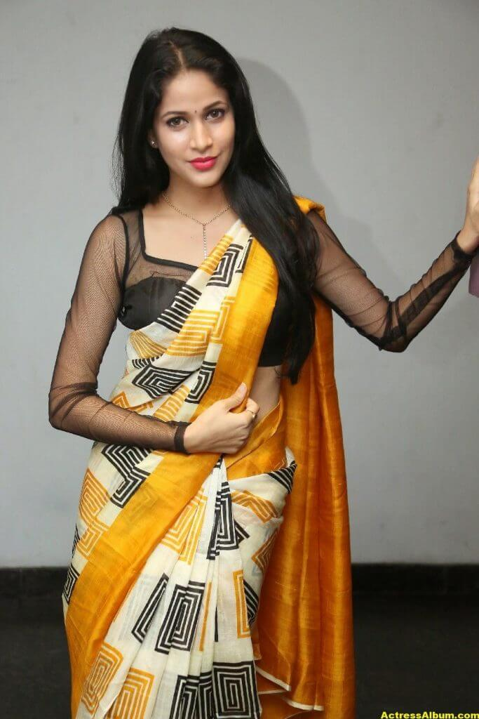 Hot Photos Of Lavanya Tripathi In Yellow Saree 4