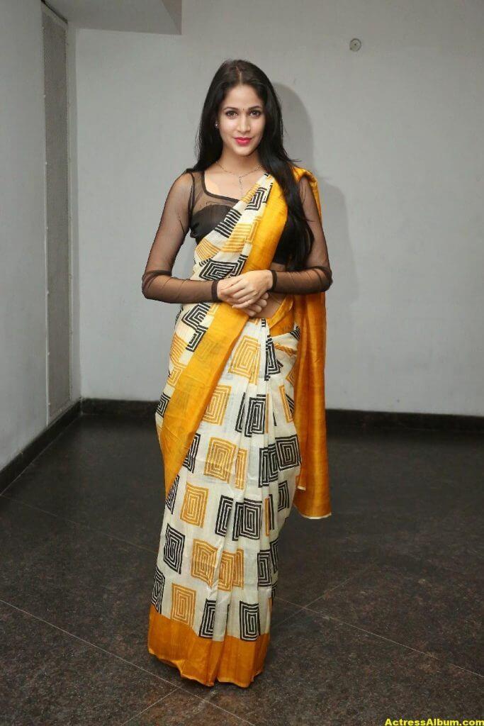 Hot Photos Of Lavanya Tripathi In Yellow Saree 5