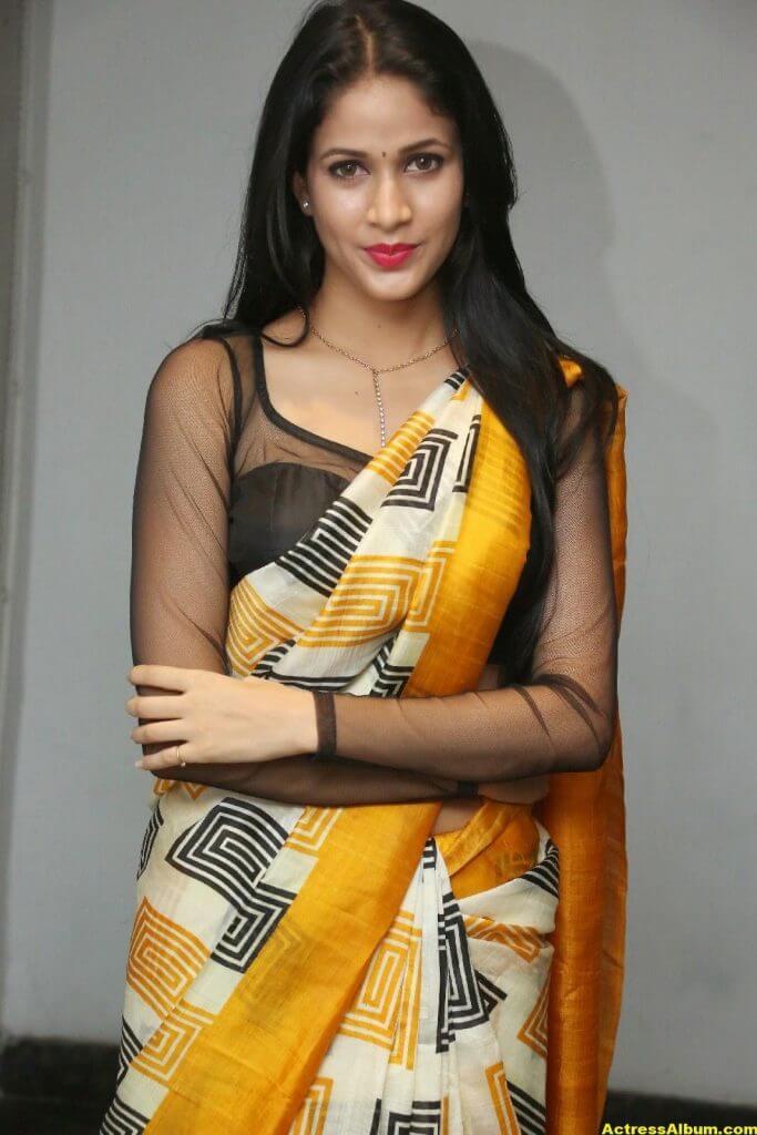 Hot Photos Of Lavanya Tripathi In Yellow Saree 6
