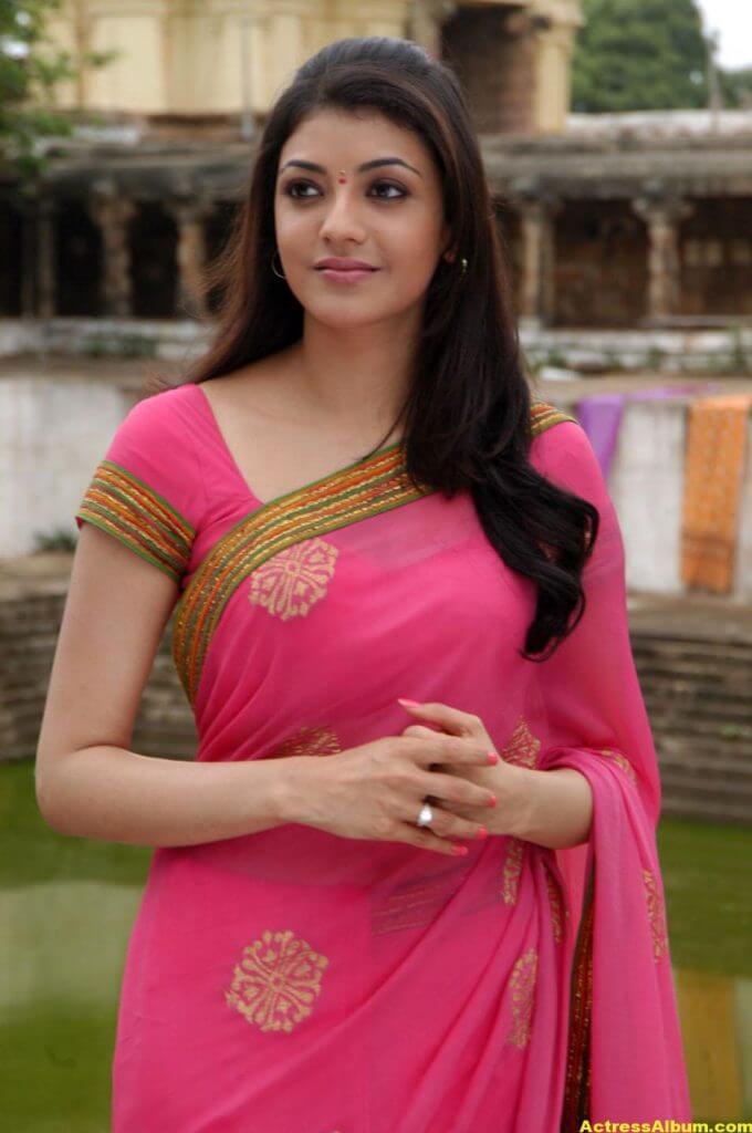 Kajal Agarwal Photos In Beautiful PInk Saree 1