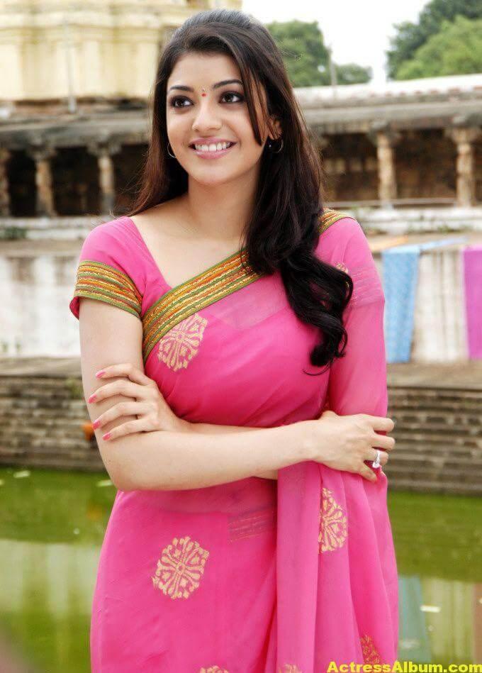 Kajal Agarwal Photos In Beautiful PInk Saree 2