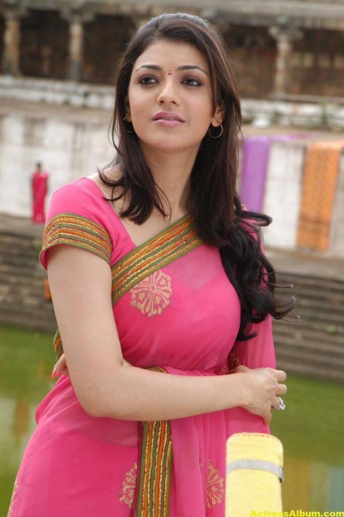 Kajal Agarwal Photos In Beautiful PInk Saree 3