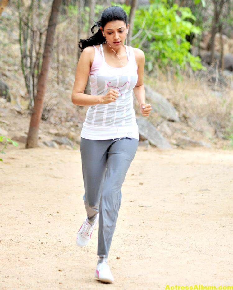 Kajal Agarwal Photos In Jogging Dress White 4