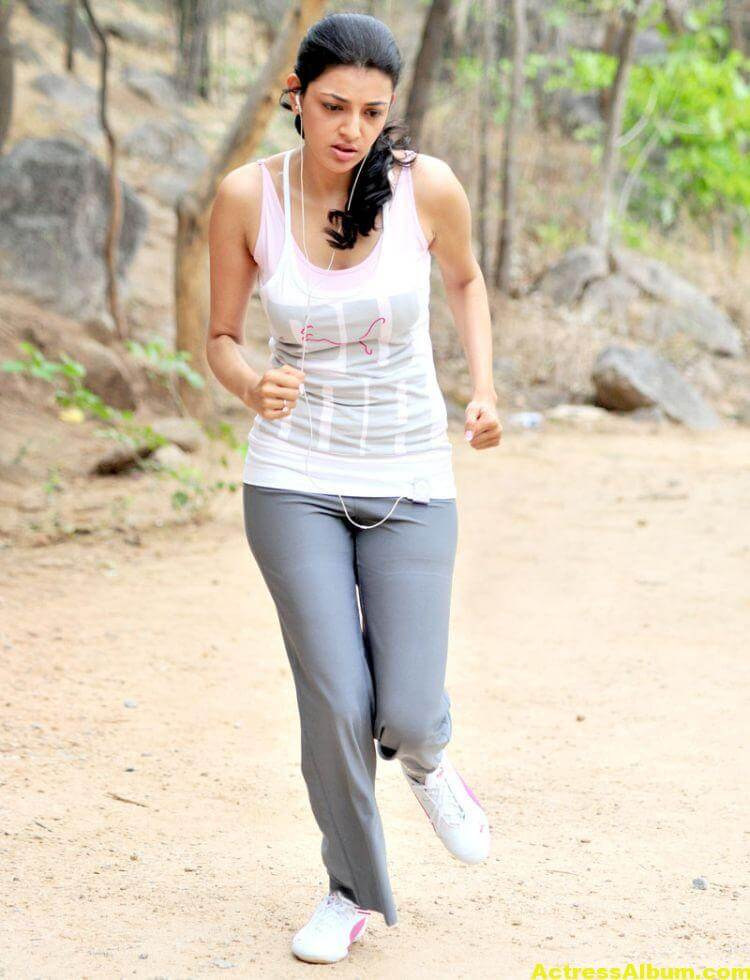 Kajal Agarwal Photos In Jogging Dress White 5