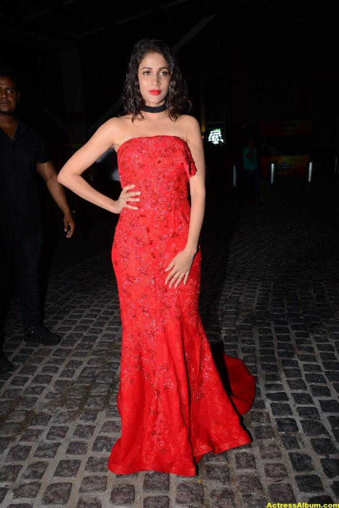 Lavanya Tripathi Photos at Filmfare Awards In Red Gown (3)