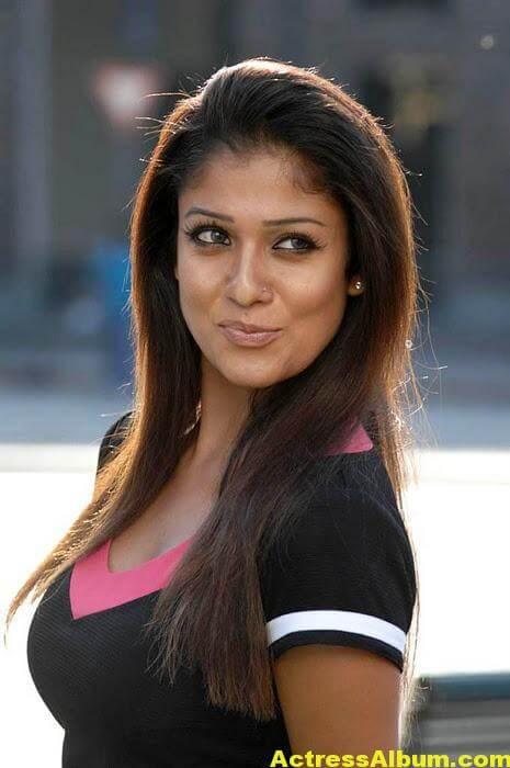 Nayanthara Hot Photos In Black Dress