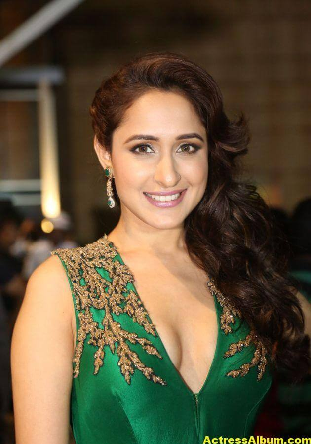 Pragya Jaiswal Photos at Filmfare Awards In Green Gown (1)