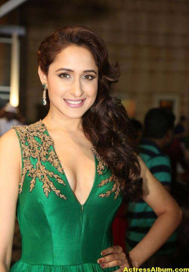 Pragya Jaiswal Photos at Filmfare Awards In Green Gown (10)