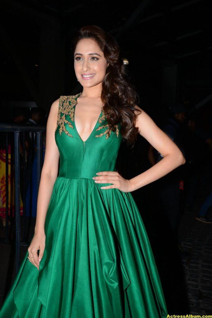 Pragya Jaiswal Photos at Filmfare Awards In Green Gown (6)