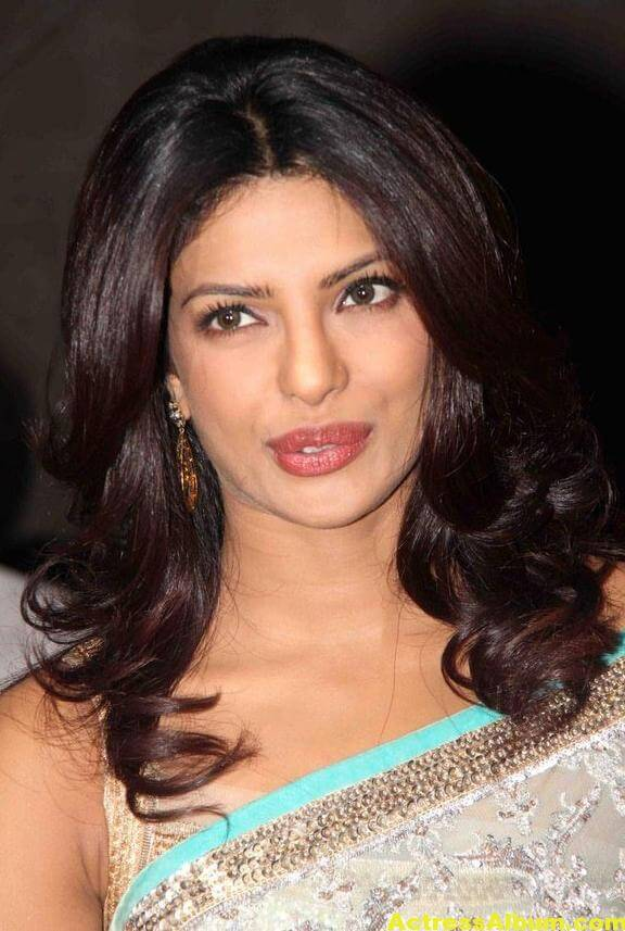 Priyanka Chopra Hot Photos In Sky Blue Saree 3