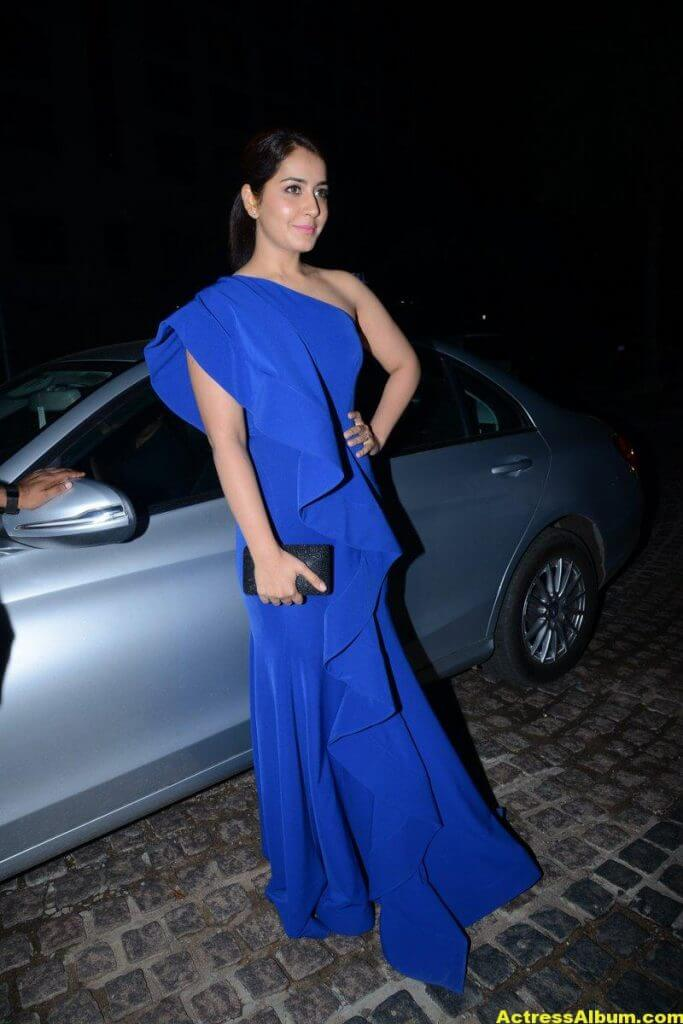 Rashi Khanna Photos In Blue Dress 0