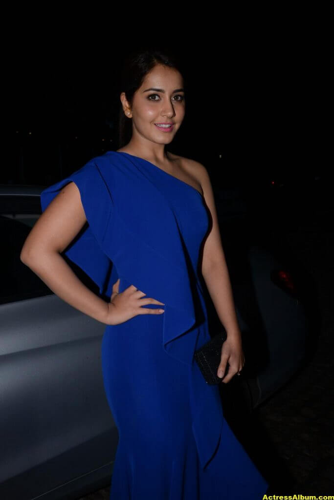 Rashi Khanna Photos In Blue Dress 1