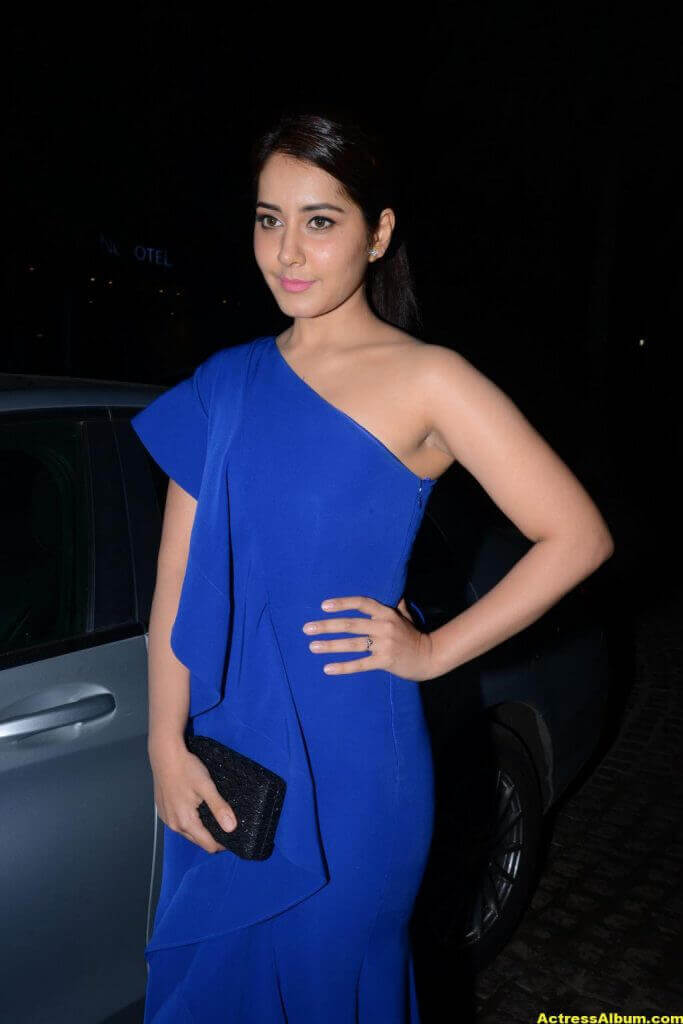 Rashi Khanna Photos In Blue Dress 4