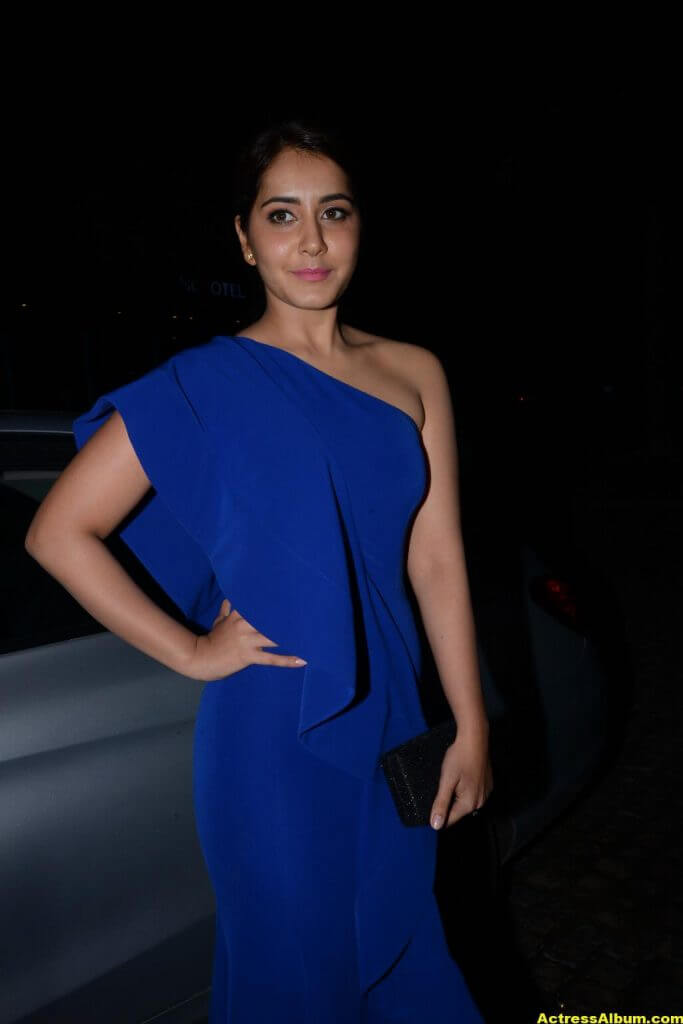 Rashi Khanna Photos In Blue Dress 5
