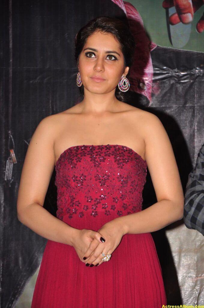 Rashi Khanna Stills At Movie Success Meet 3