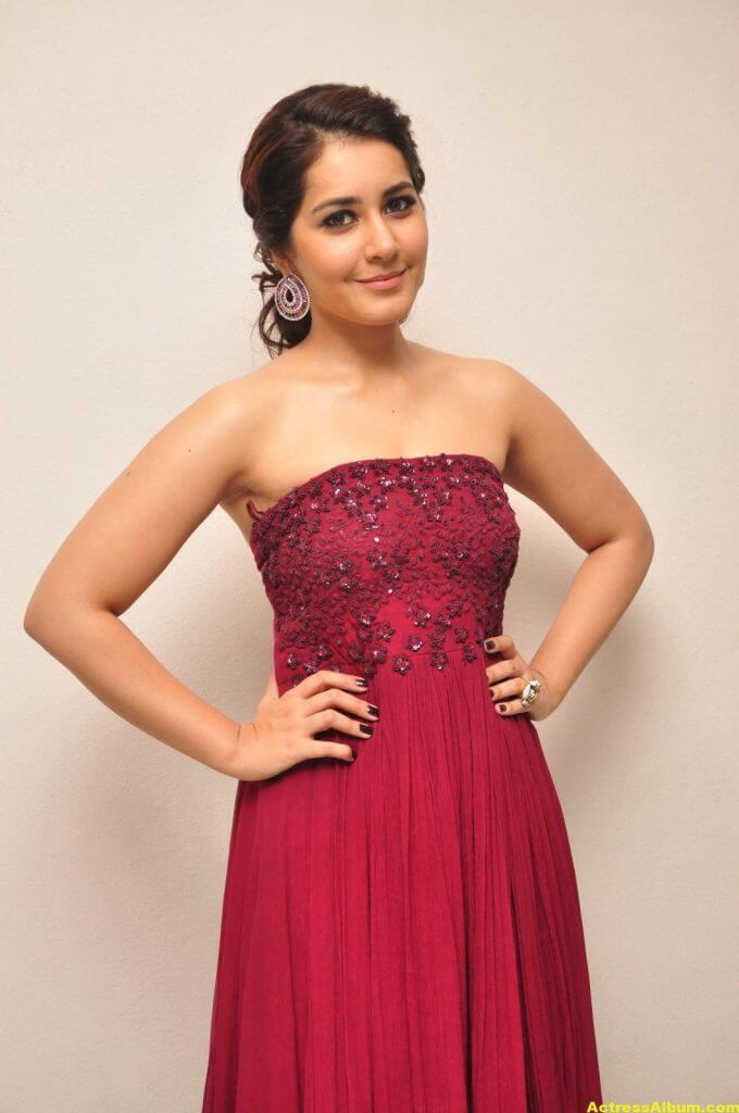 Rashi Khanna Stills At Movie Success Meet 4
